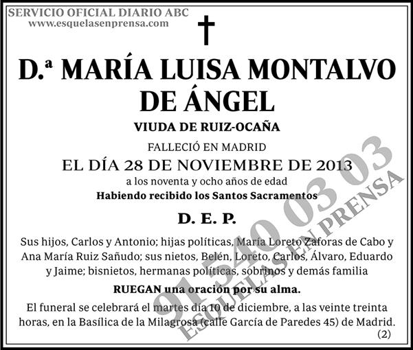 María Luisa Montalvo de Ángel